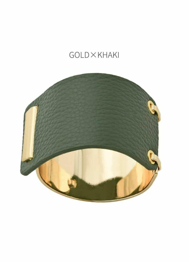 ゴールド×カーキ