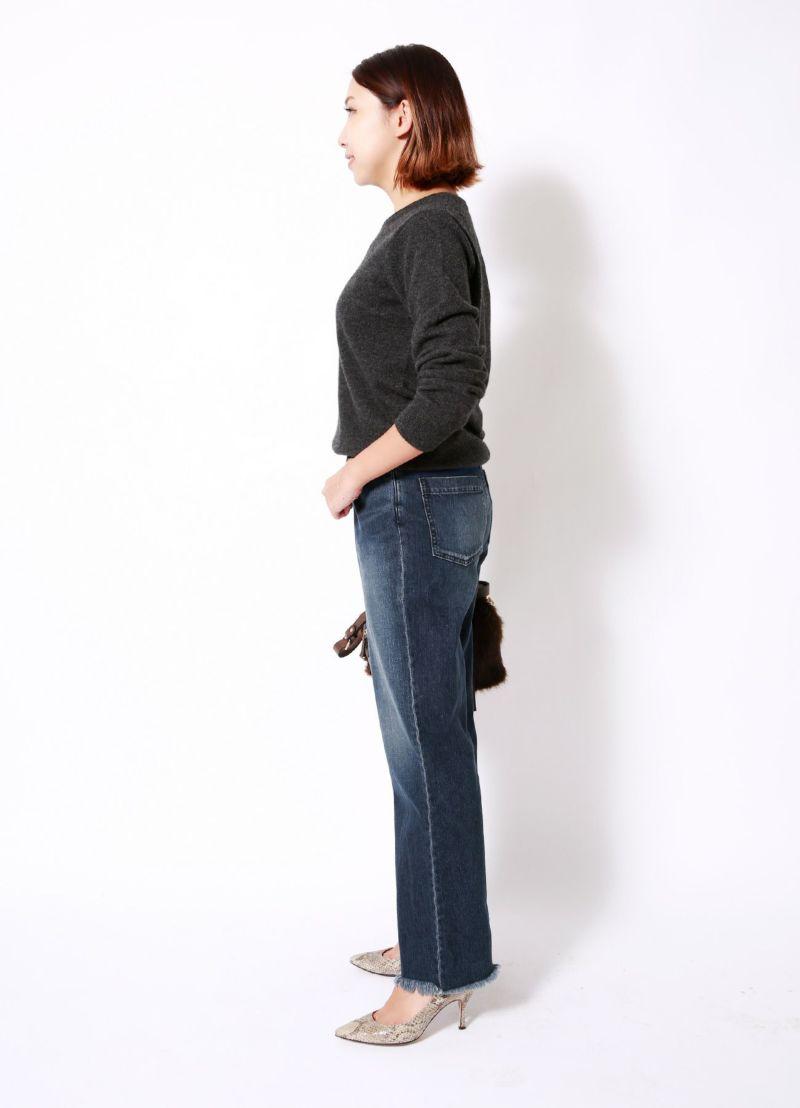 着用イメージ 157cm ブルーミックス 着用サイズXS