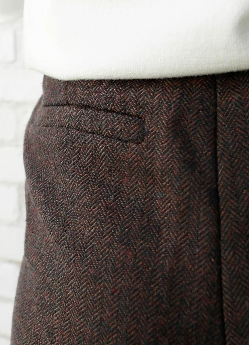 着用イメージ 157cm ブラウンミックス