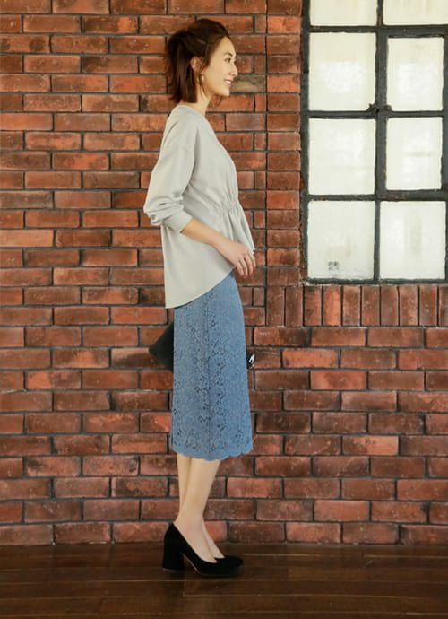 着用イメージ 168cm ブルー 着用サイズ S