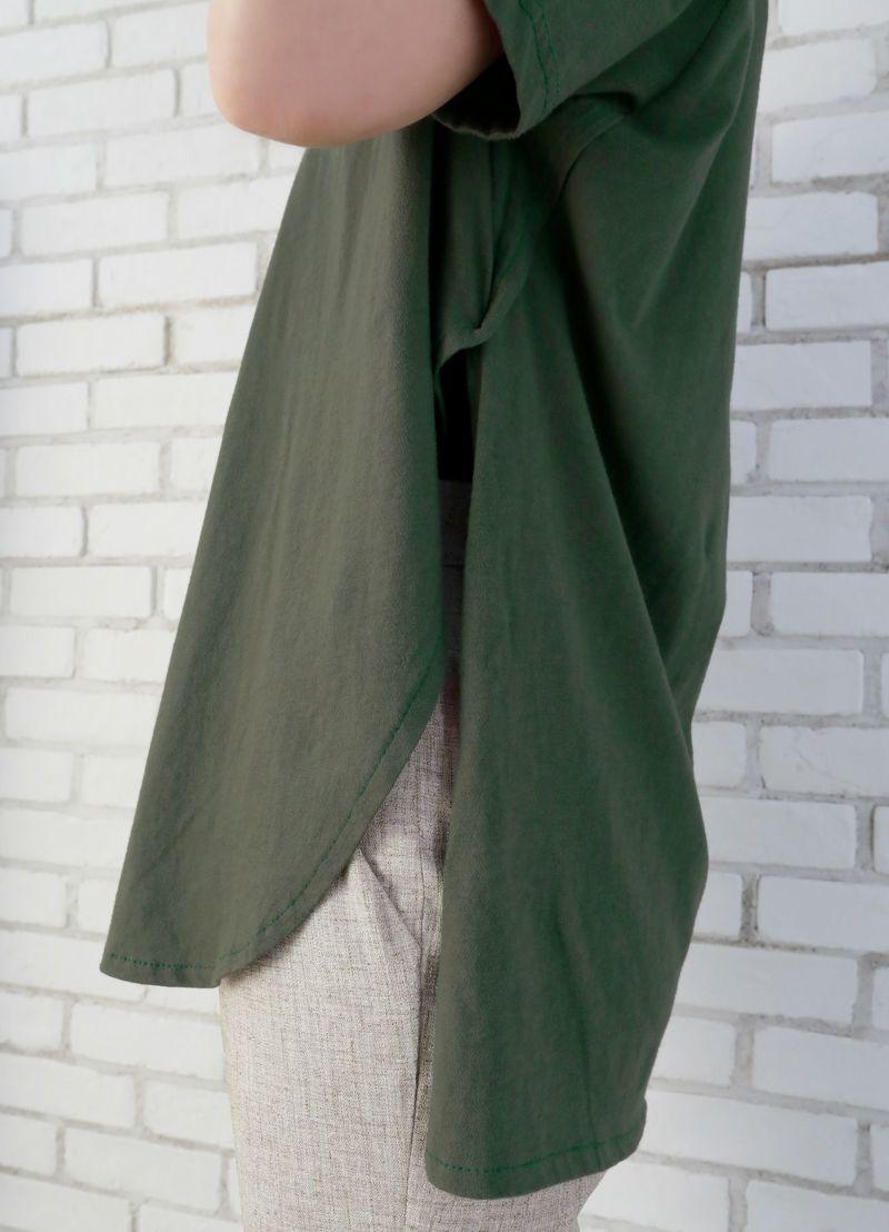 着用イメージ 167cm ダークグリーン