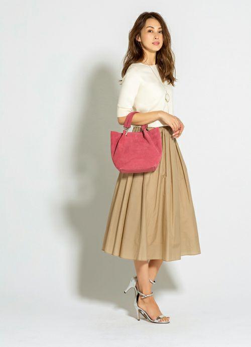 【MAURIZIO TAIUTI 】04-suede hand bag
