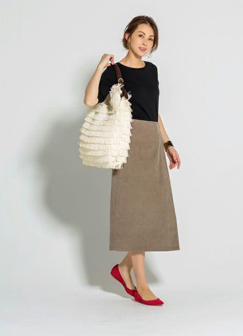 【Anita Bilardi】03-fringe straw bag WHITE