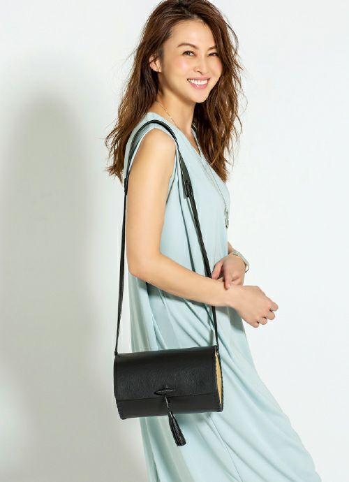 【import】straw & leather cylinder shoulder bag