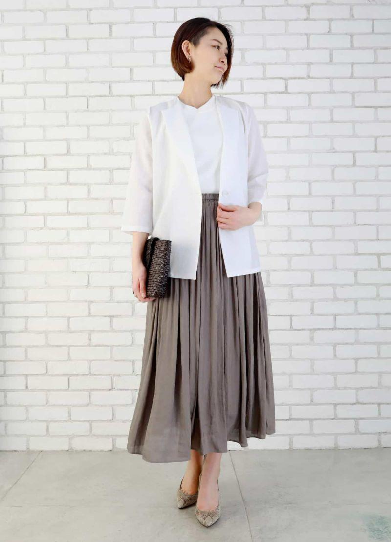 サラサラ涼感ホワイトジャケット【OUTLET】