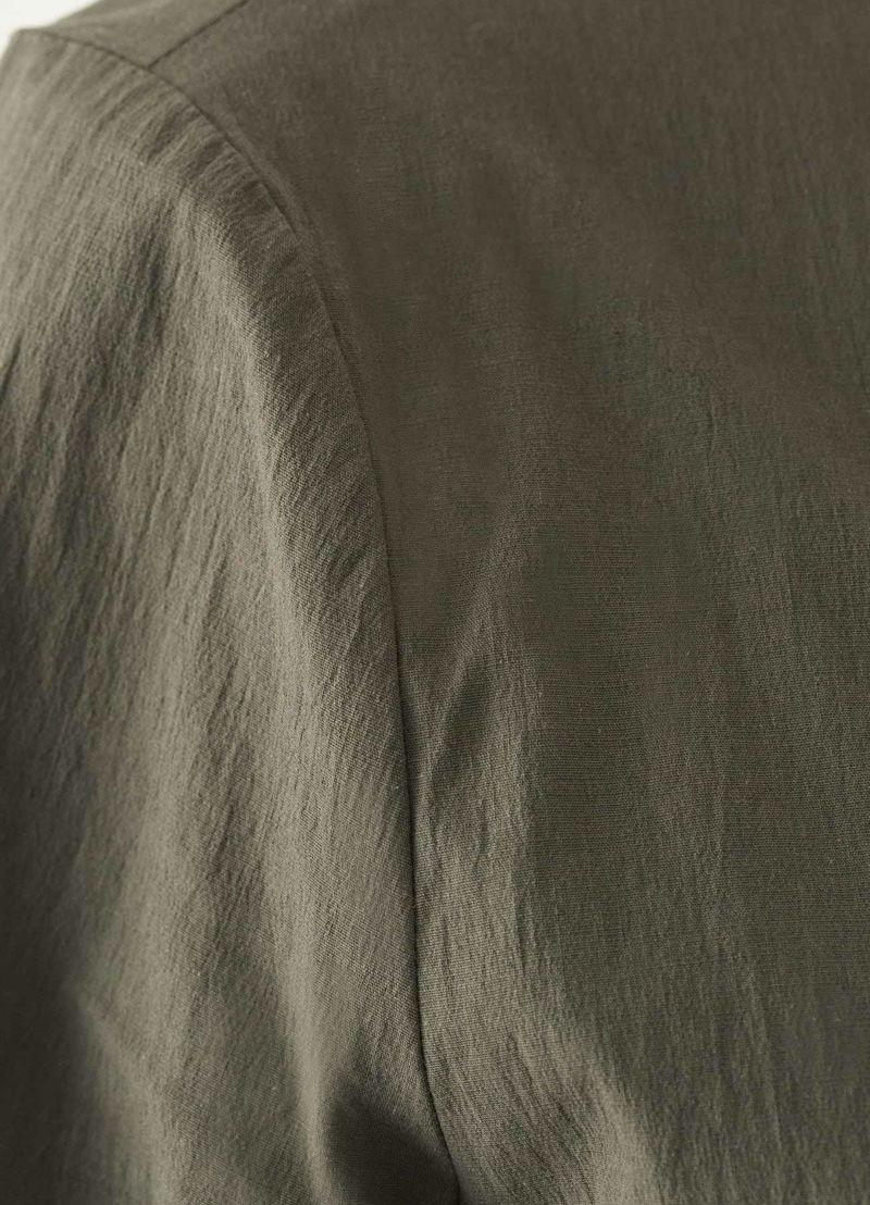 着用イメージ 166cm チャコールグリーン