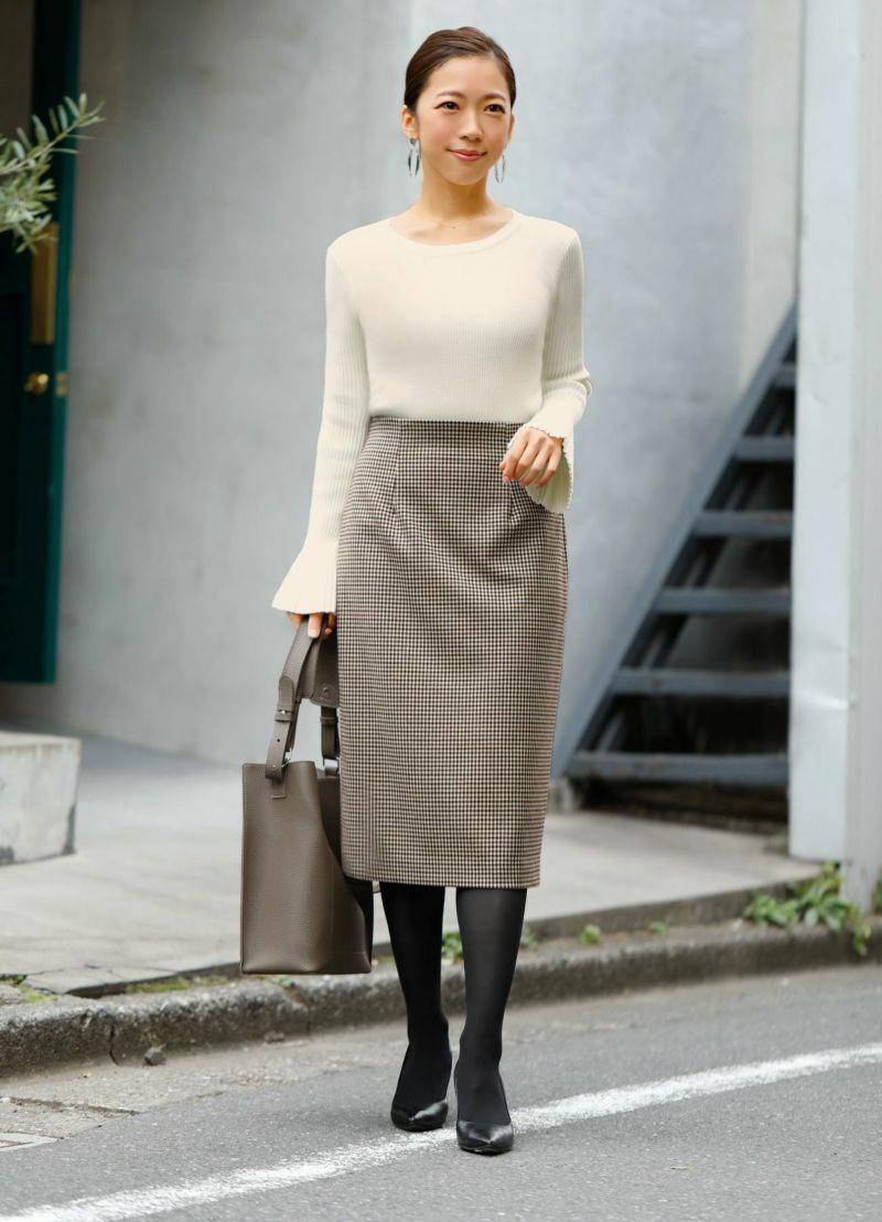 【Made in JAPAN】チェック柄ペンシルスカート