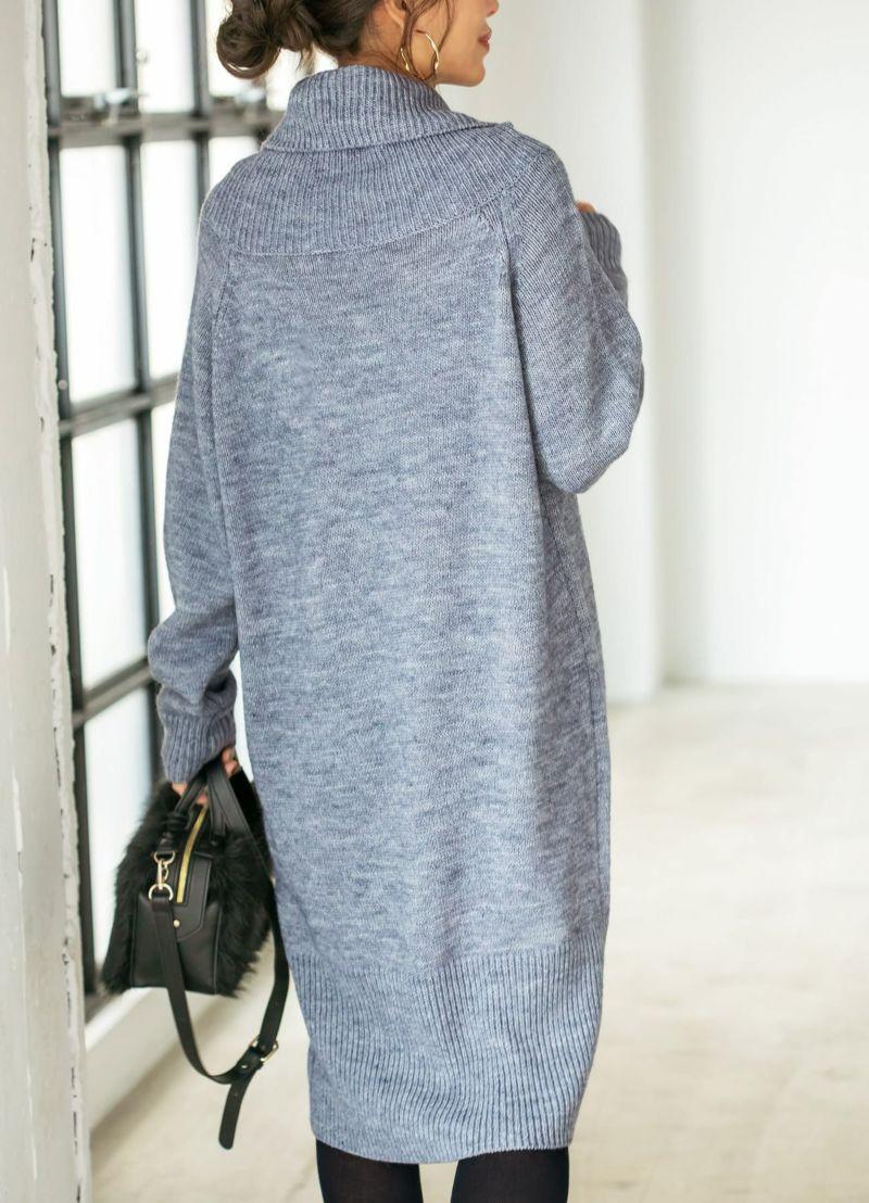 着用イメージ 166cm ブルーミックス