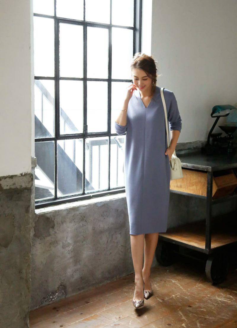 着用イメージ 168cm ニュアンスブルー 着用サイズ 02