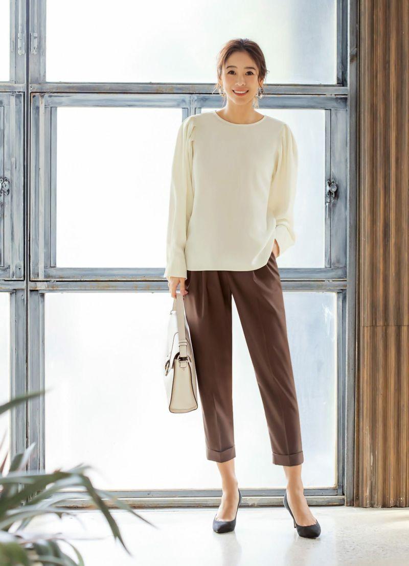 【Made in JAPAN】裾折りセンターラインパンツB