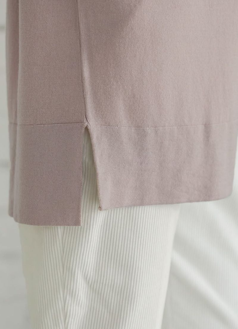 着用イメージ 166cm ピンクグレージュ