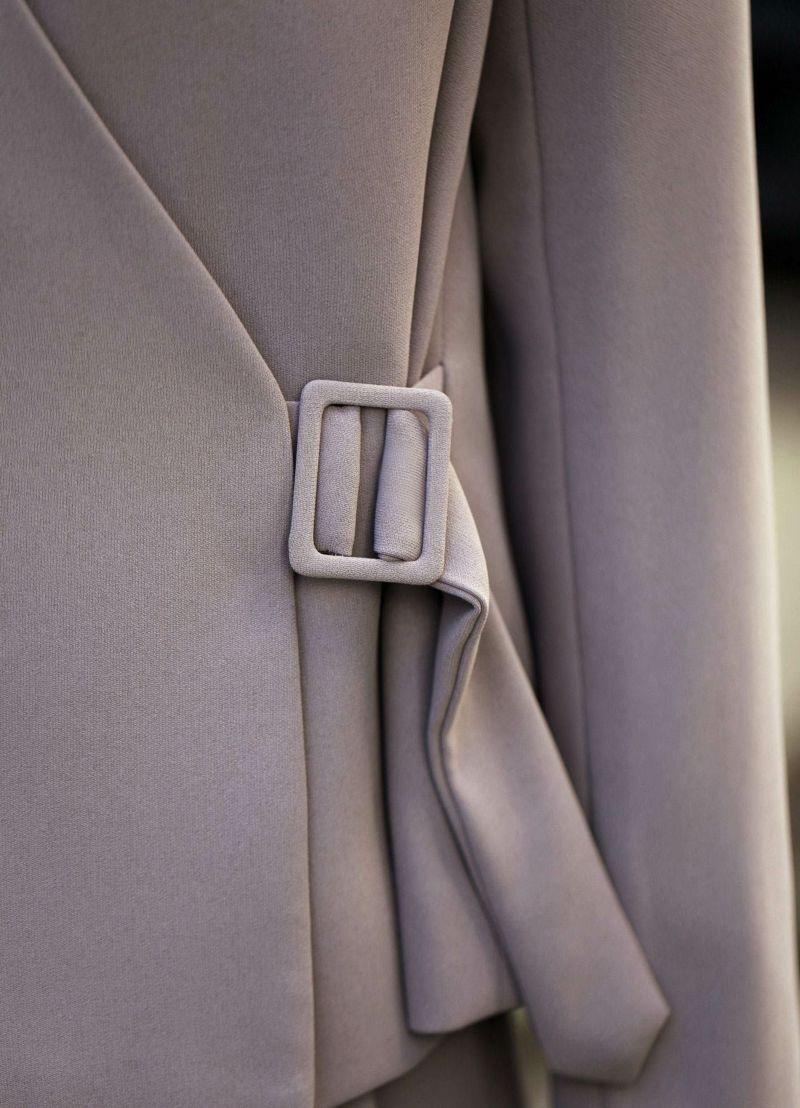 着用イメージ 167cm モーブグレー 着用サイズ:M