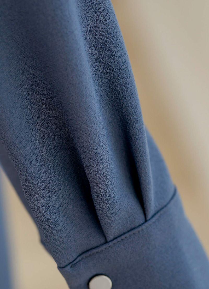 着用イメージ 169cm スモーキーブルー 着用サイズ S
