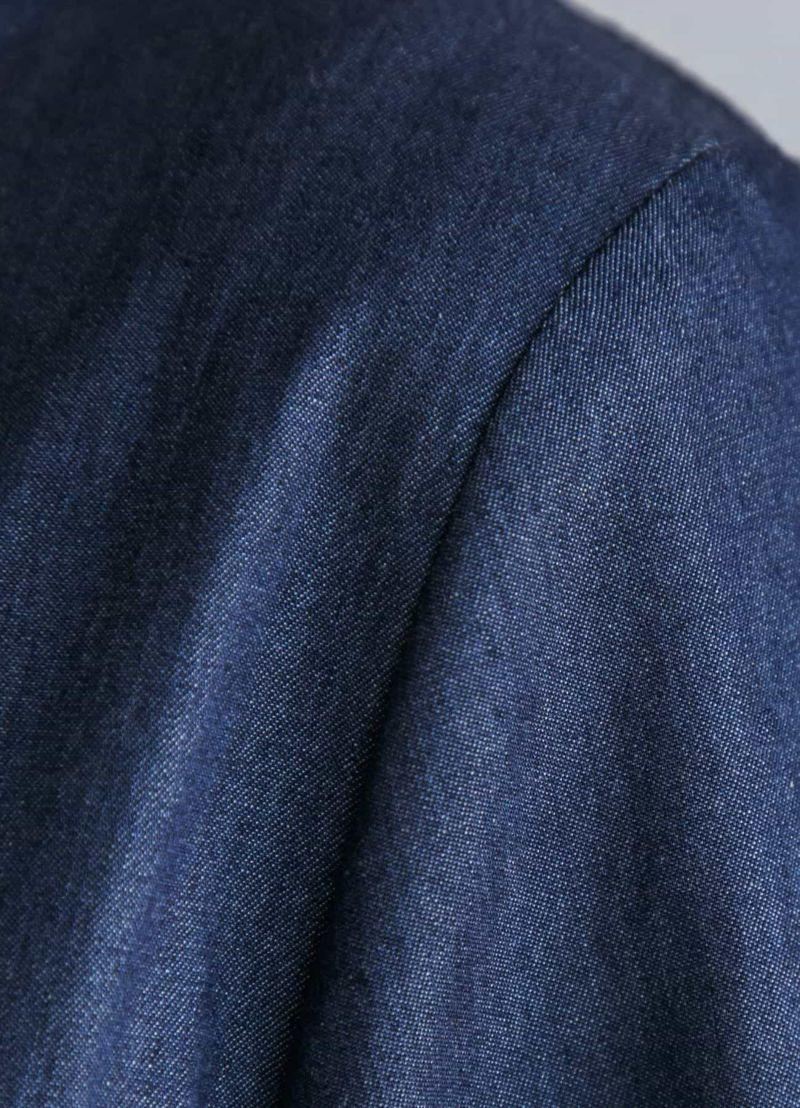 着用イメージ 166cm デニムブルー