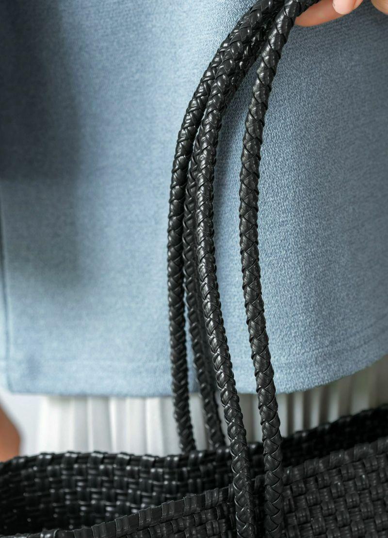 着用イメージ 166cm ブルーグレー
