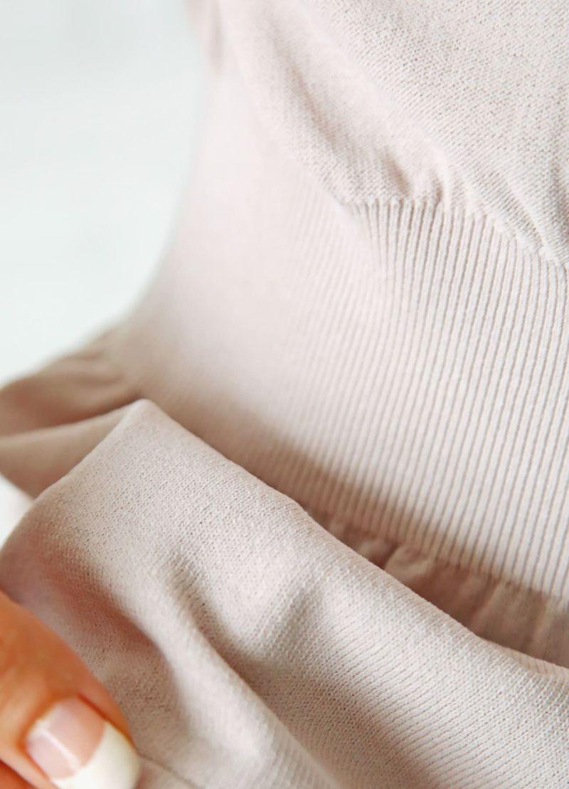 着用イメージ 168cm ピンクグレージュ