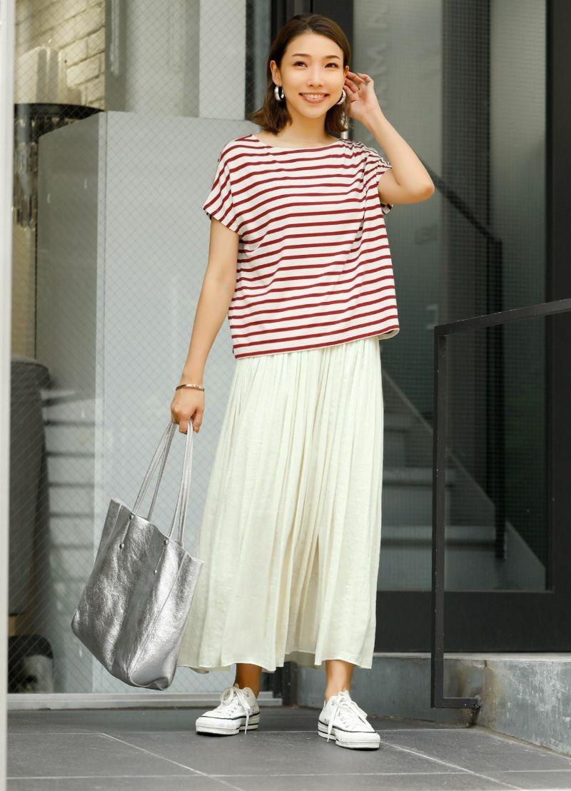 バックデザインボーダーTシャツ【OUTLET】