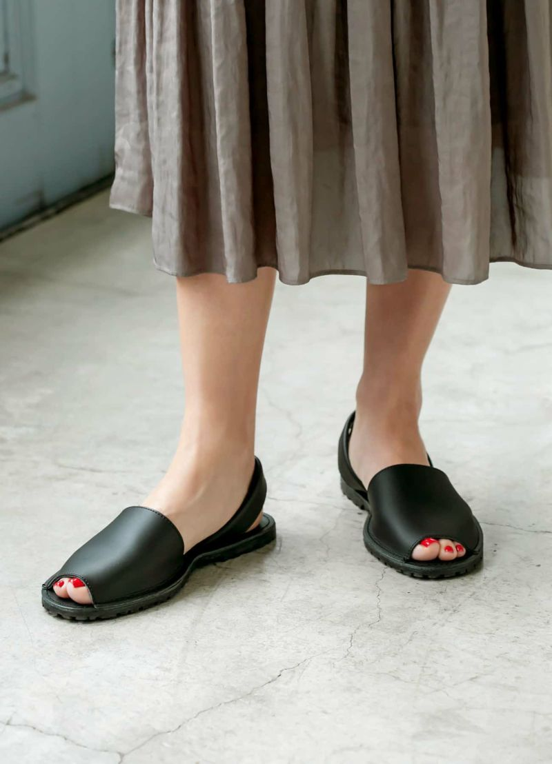 【COMING ATTRACTIONS】05-back strap flat sandals/BK