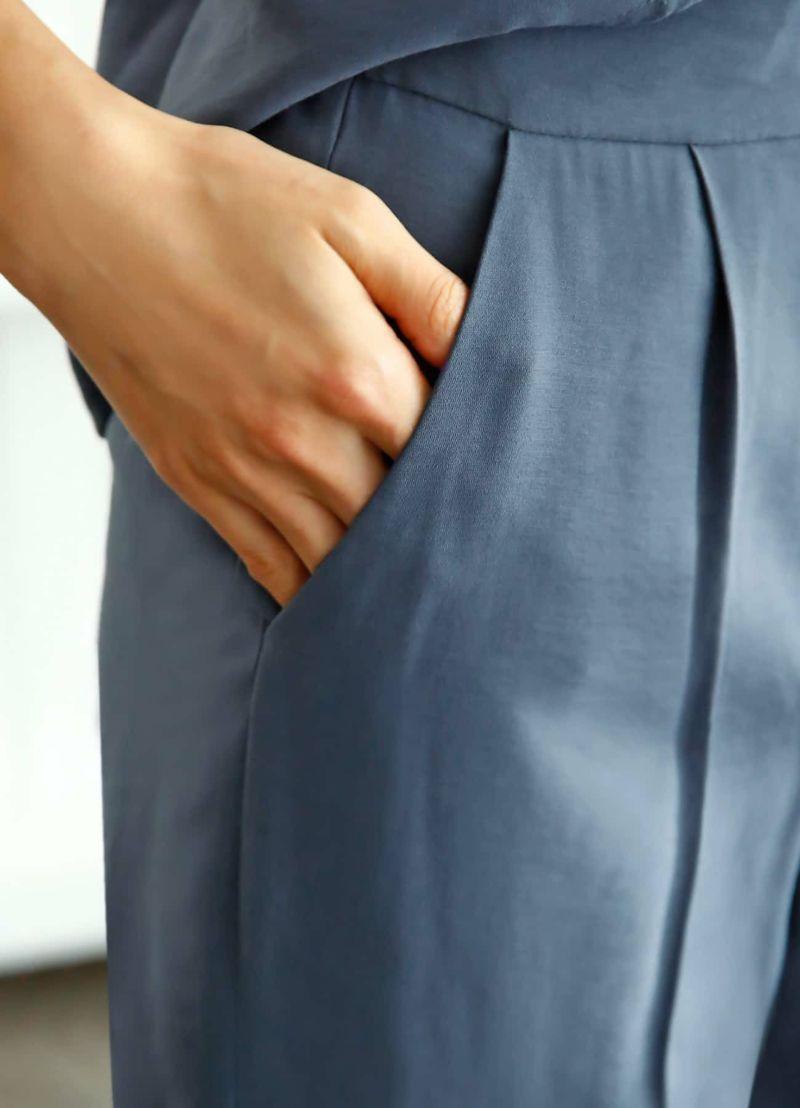 着用イメージ 168cm スモーキーブルー Sサイズ