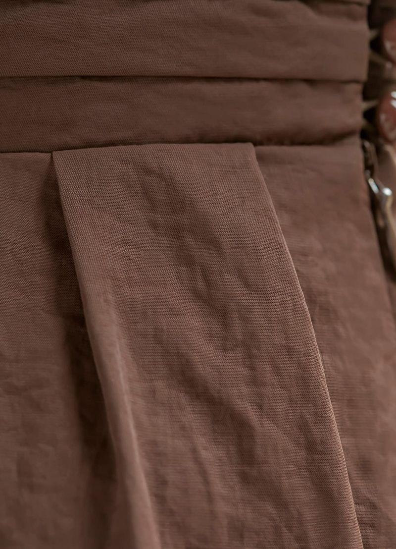 着用イメージ 169cm ブラウン 着用サイズ S