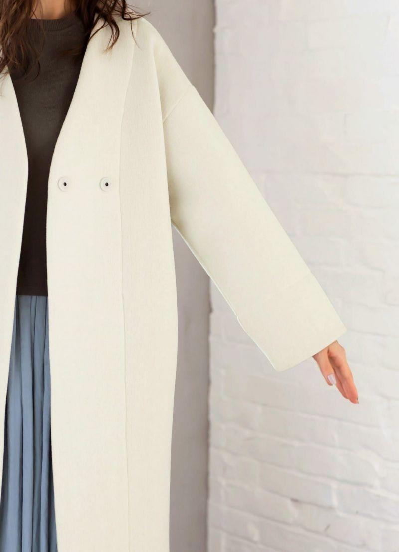 着用イメージ 166cm オフホワイト