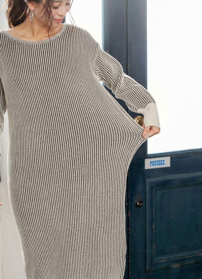 よく伸びます。着ながらぐいぐい伸ばせば自分好みのゆとりも作れます。