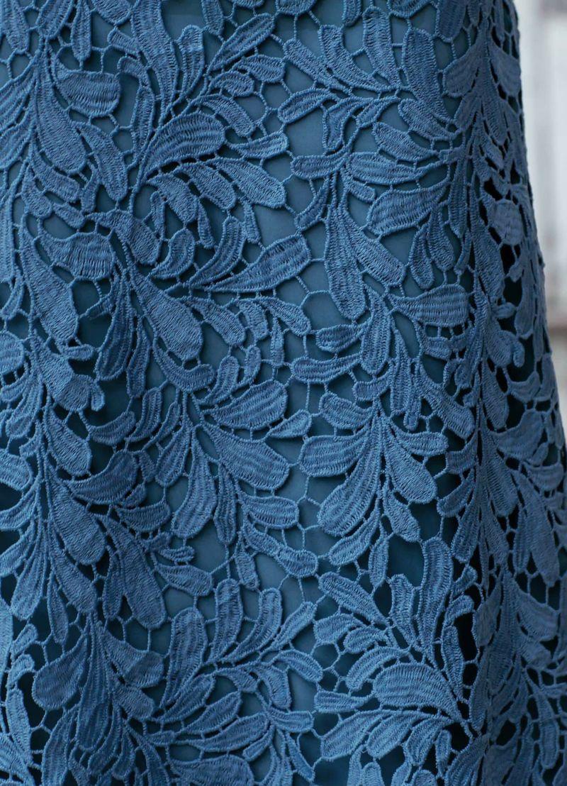 着用イメージ 166cm ブルー 着用サイズ 02