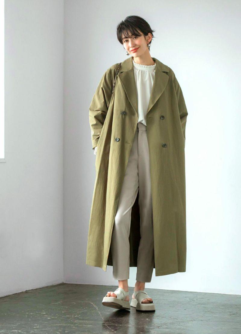 着用イメージ 166cm スモーキーブルー 着用サイズ 02