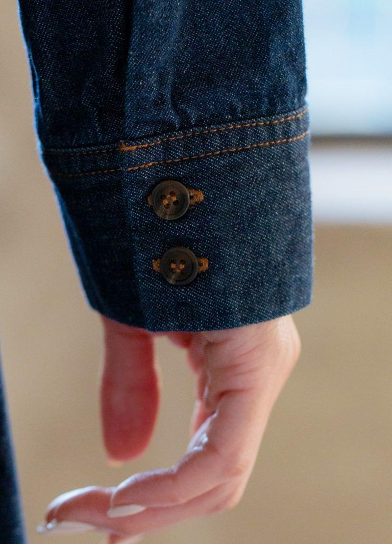 袖口ボタン&カフス接写画像