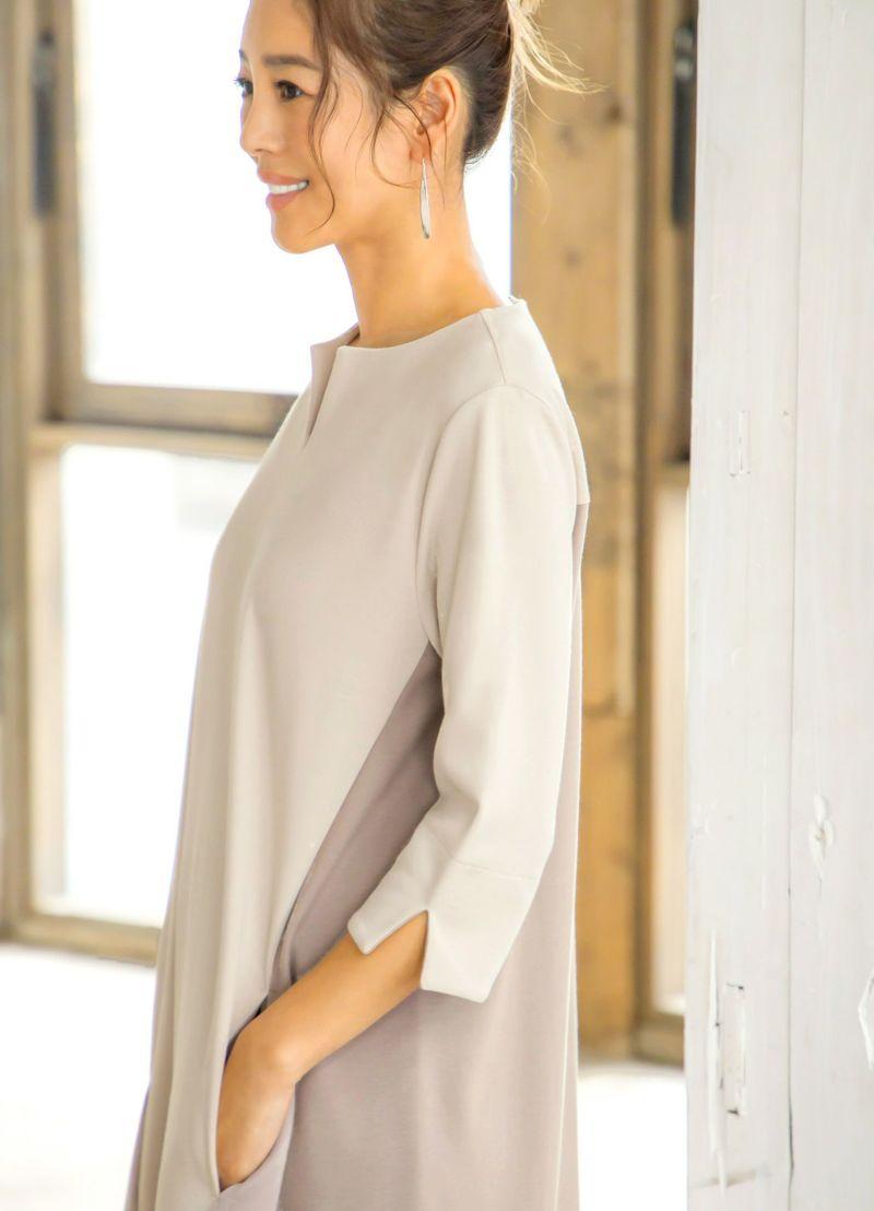 袖丈は7分丈程度。袖を折り返すと配色になっており6~5分袖にできます。
