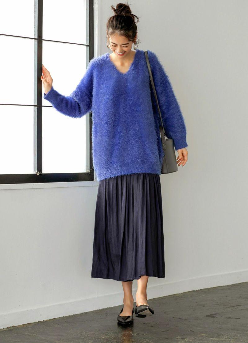 ギャザースカートにありがちな下腹の膨らみ感を最大限に抑えた優秀パターン