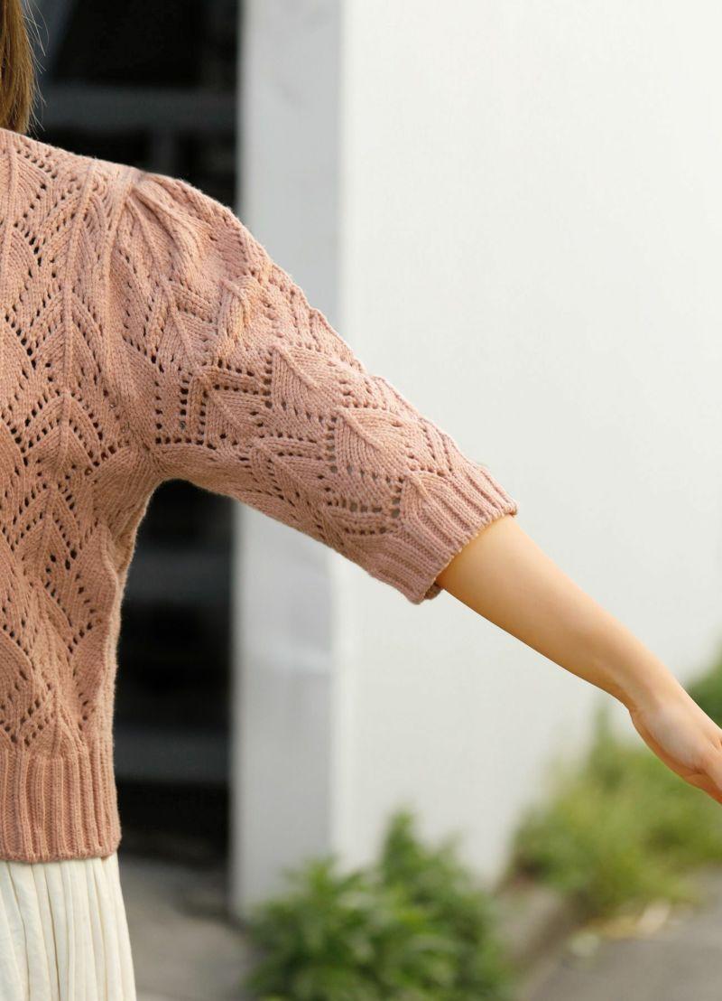 着用イメージ 157cm サーモンピンク