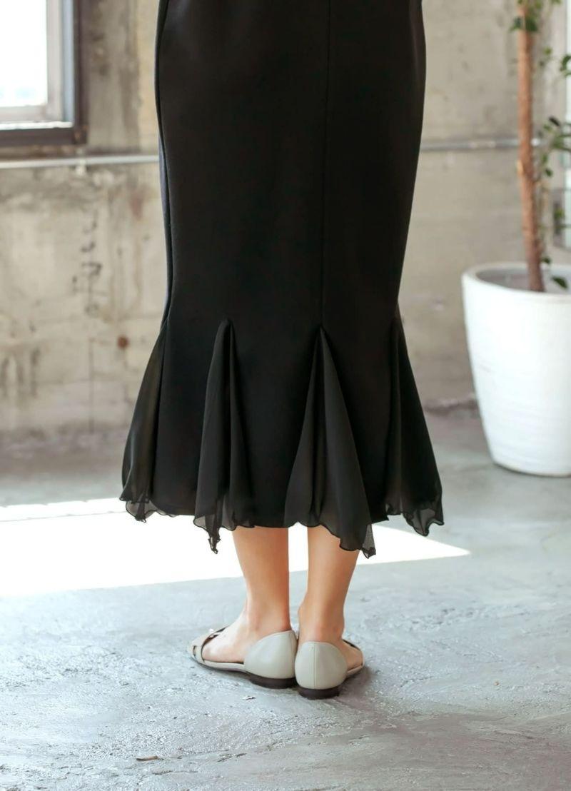 スカート部分背面