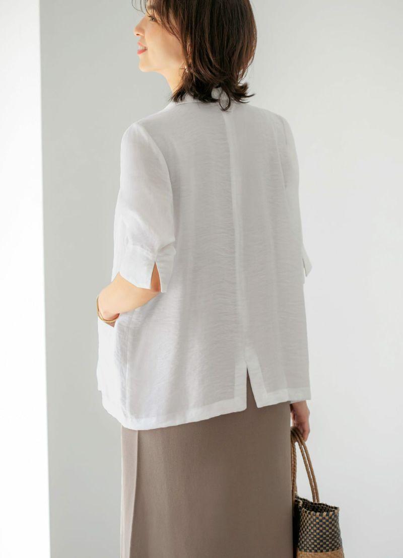 着用イメージ 168cm ホワイト