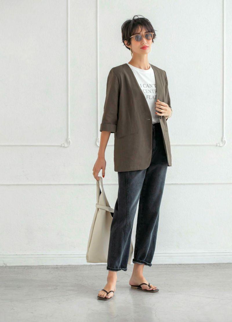 綿麻オーバーサイズサマージャケット