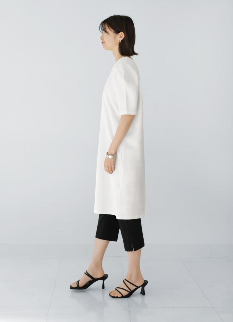 着用イメージ 166cm ブラック×グレーパンツ Sサイズ