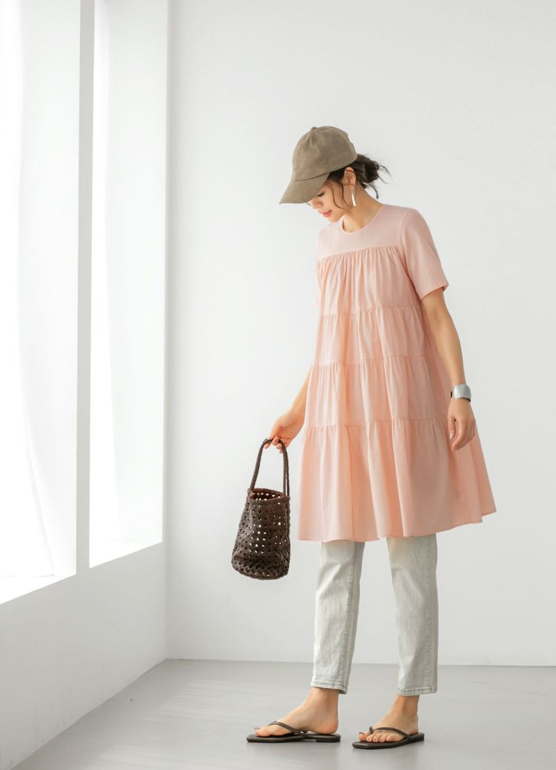 着用イメージ 157cm ピンク