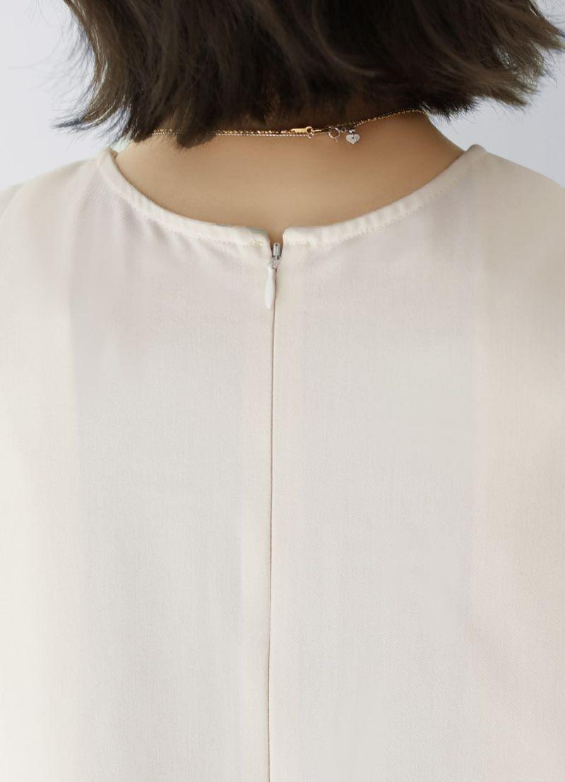 着用イメージ 157cm オフホワイトミックス  着用サイズ:01