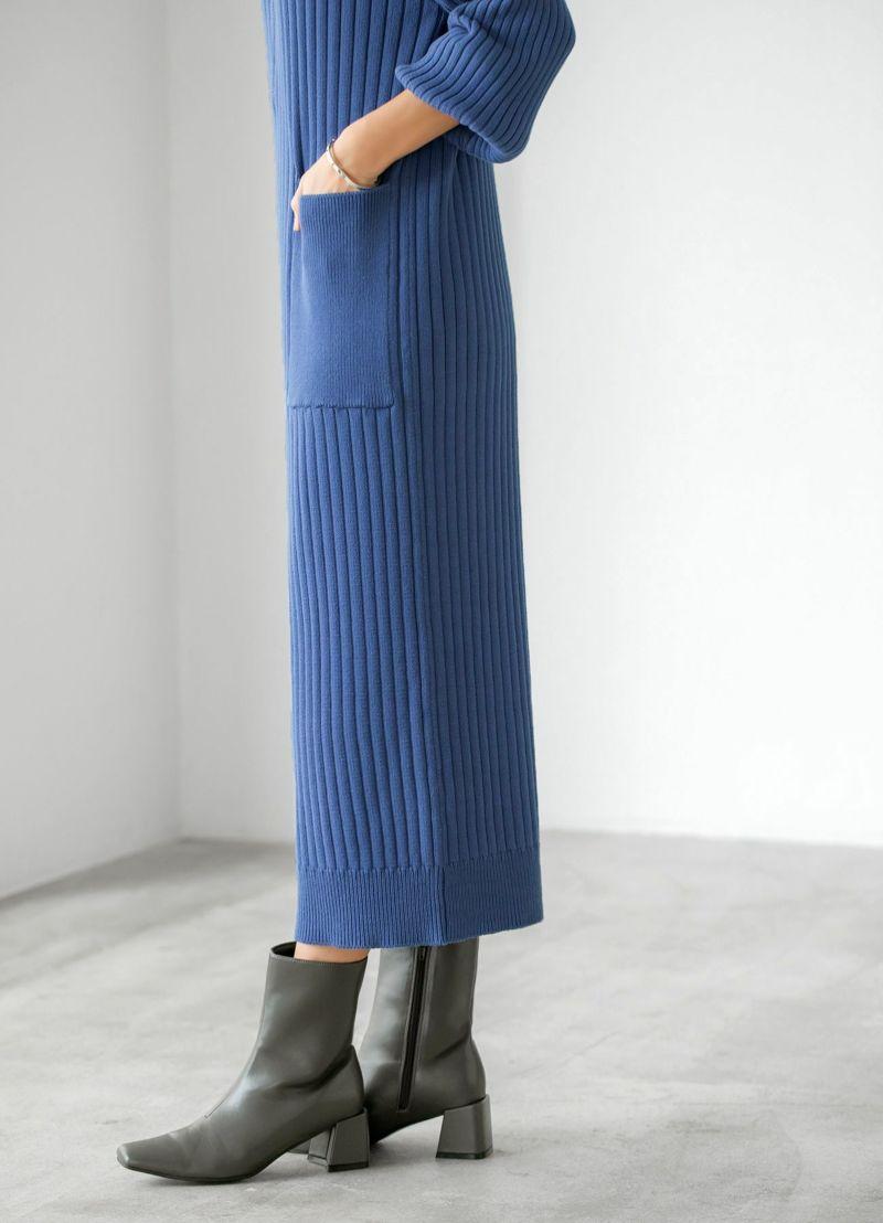 着用イメージ 166cm 着用サイズ 02 ブルー