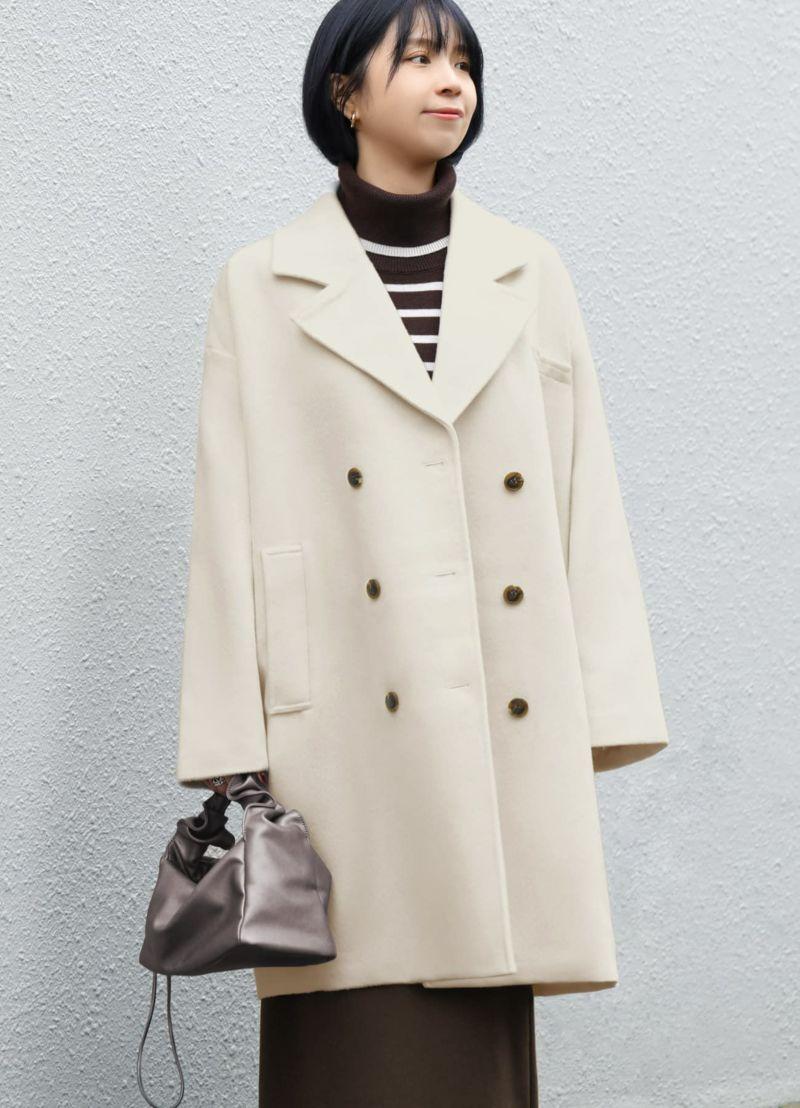 着用イメージ 170cm オイスターホワイト