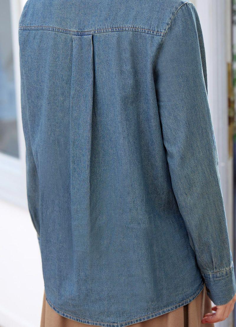 着用イメージ 166cm ブルー