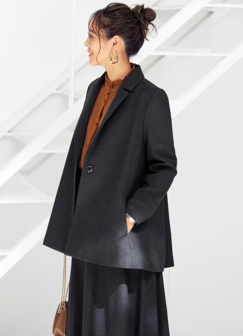 着用イメージ 166cm チャコールグレー
